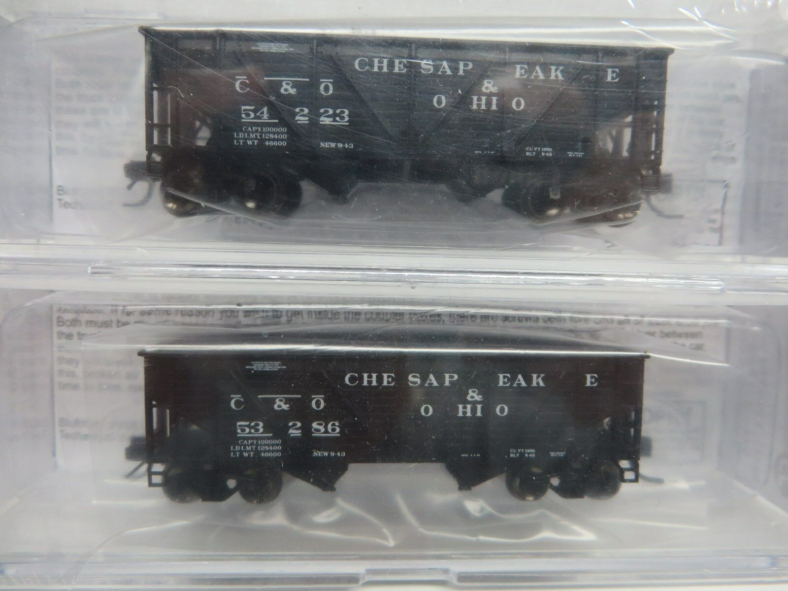 Buford Shops-N  C&O War Emergency Hoppers (2 Car Set   2 Car  's) NIB