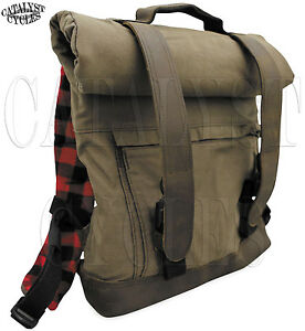 Image Is Loading Burly Brand Voyager Backpack Waxed Canvas Motorcycle Bag