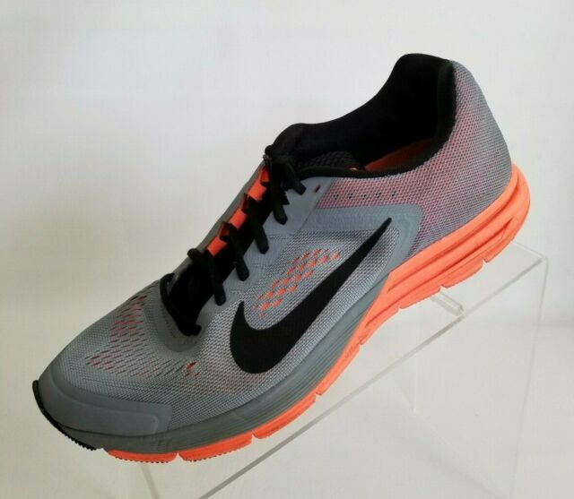 sélection premium c2f96 452c8 Nike Zoom Structure 17 Running Gray Orange Lace Up Womens Shoes Size 10