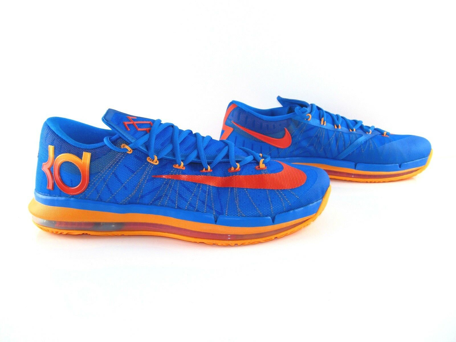 Nike KD VI 6 Elite Series Photo Blue Orange Basketball Sneakers US_15 EUR_49.5