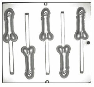 6-Penis-Lollipop-Candy-Molds-782-80-Bags-Sticks-Twist-Ties-Free-Shipping-NEW