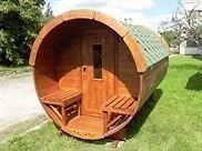 Anatomi: Sauna tønde 3 meter Ø1,9 meter - Gran