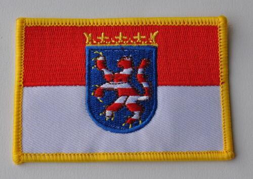Écusson patch 0273 aufbügler Hesse drapeau drapeau blason de collection NEUF