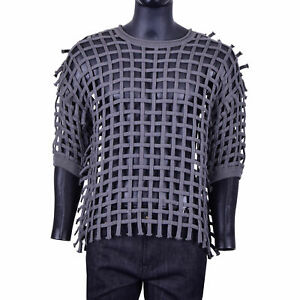 DOLCE-amp-GABBANA-Runway-net-Cable-Knit-Pullover-Pull-Sweat-Gris-07326