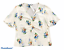 miniature 1 - Woman's MADEWELL White Floral 100% Silk Short Sleeve Top Blouse Shirt Size 6