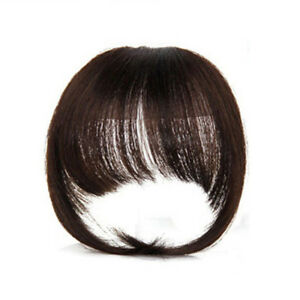 Clip-In-100-Human-Hair-Frontal-Bangs-Fringe-Extensions-Real-Remy-Virgin-Hair