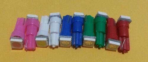 12 BLUE T5 LED INSTRUMENT PANEL CLUSTER DASH LIGHT BULB 58 70 73 74
