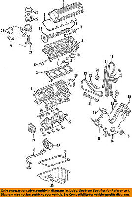 OEM NEW Engine Oil Pan Gasket 5.4L 4.6L V8 Ford Genuine 3L3Z6710AA