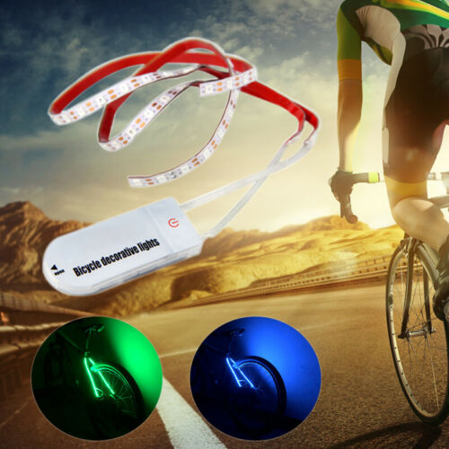 70 LED Bike Spoke Wheel String Strip Light Safety Lamp For Bike Bicycle Cycling