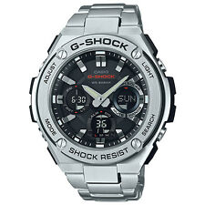 Casio G-Shock GSTS110D-1A G-Steel Stainless Steel with Black Dial Men's Watch