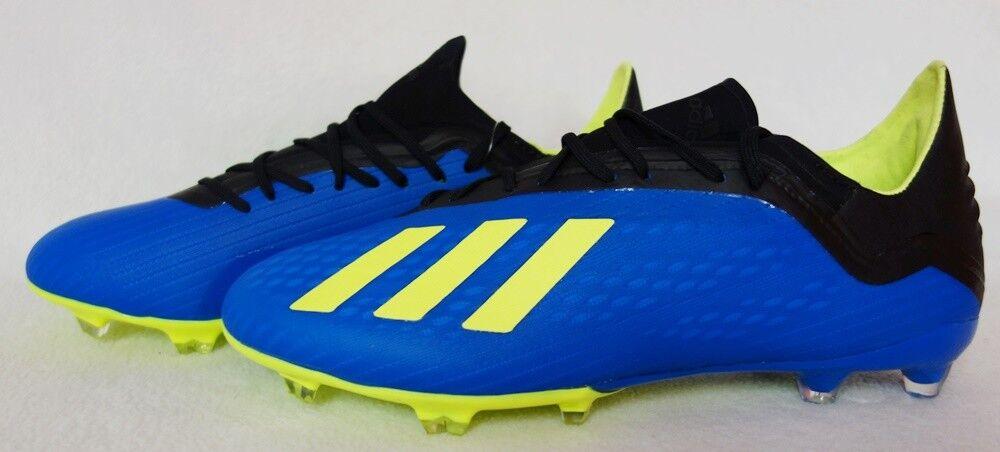 schwarz neongelb blau DA9334 FG 18.2 X Fußballschuh Adidas