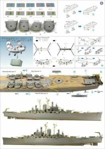 Very Fire 1//350 USS Des Moines Heavy Cruiser CA-139 Salem detail up set VF350022