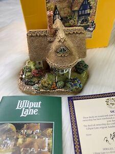 Lilliput-Lane-034-Cuna-Cottage-034-Coleccion-ingles-1996-Hecho-a-Mano-en-Inglaterra