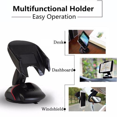360°Universal In Car Windscreen Dashboard GPS Mount Phone Holder Stand Cradle//Uk