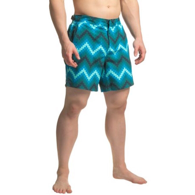 NWT Jachs NY Geometric Chevron Hampton Swim Shorts.  Size  34  MSRP
