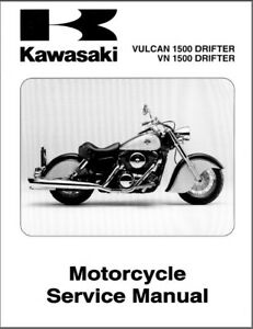 1999-2005 Kawasaki Vulcan 1500 Drifter / VN1500 Drifter Service Repair Manual CD