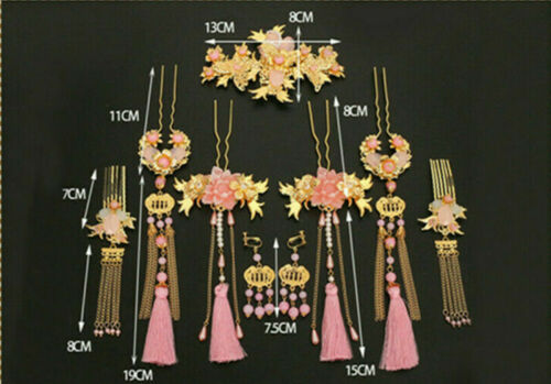 Chinese Bride Headdress Hair Ornaments Ancient Costume Accessories Tassel New