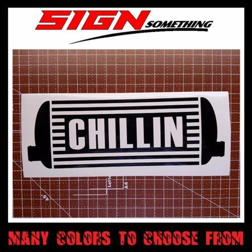 decal chilling cool inter cooler Chillin Intercooler sticker vinyl