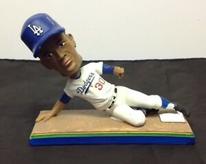 Maury Wills Signed Bobble Head Los Angeles Dodgers JSA Cert #W932977