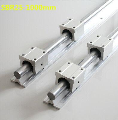 Linearwelle mit Aluminium Unterbau  SBR25x1000 25 mm Welle 1 Meter ETSBR25x1000