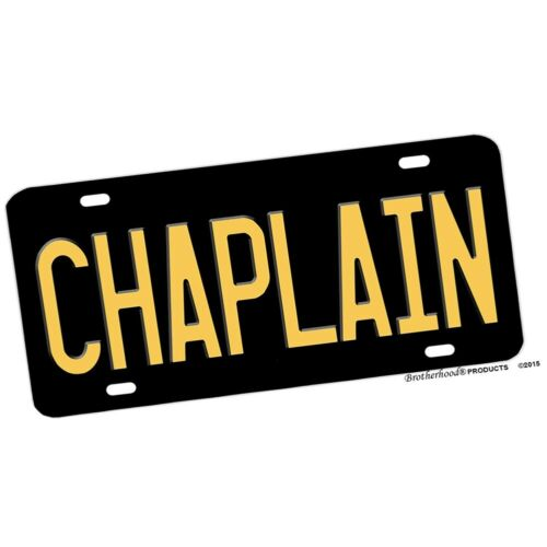 Law Enforcement Chaplain Design Aluminum License Plate Novelty Sign