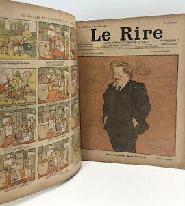 ENSEMBLE JOURNAL LE RIRE année 1900 N°270 à 321 ILLUSTRÉ hebdo CARICATURE humour