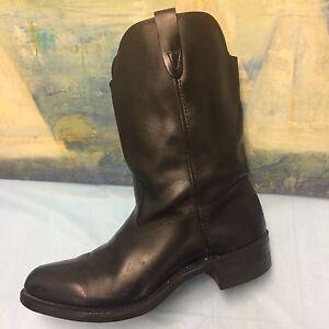 SPORTSMAN-039-S-Western-Black-Boots-sz-Men-039-s-9-American-Style