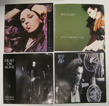 LOT of 4 DEAD OR ALIVE 45 rpm Picture Sleeves (Only - NO 45s)