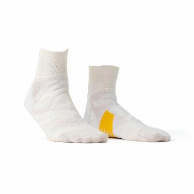 On Running Mid Sock Ice White Calze Da Donna Bianco Sport Tempo Libero Fitness Escursioni A Piedi-mostra Il Titolo Originale