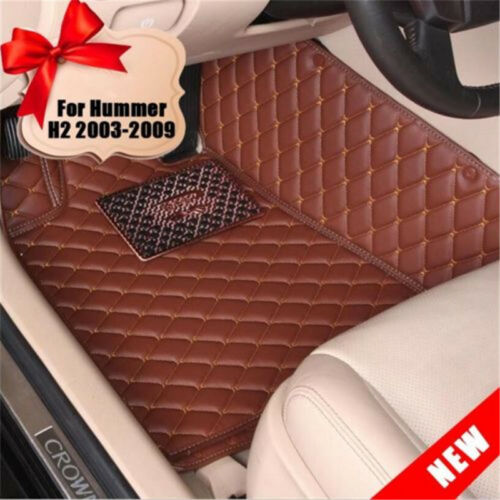 Fit Hummer H2 2003-2009 Car Floor Mats Front /& Rear Waterproof Carpet Pad UDD
