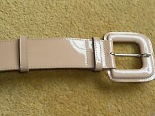 L.K. BENNETT PATENT LEATHER BELT TAUPE OR NAVY BNIP M/L THICK