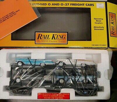 MTH 30-7656 RAIL KING MTH AUTO TRANSPORT AUTO CARRIER W//ERTL 57 CHEVYS