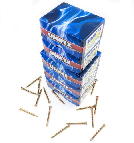 UNIFIX multi-funzione Pozi Csk Testa Vite con svasatura zinco giallo singolo thread