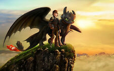 """How to Train Your Dragon 1 2 Wall Movie 21""""x13"""" Poster H30"""
