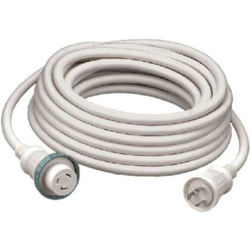 Hubbell Wiring Hbl61Cm03W 30A 25 Foot White Shore Cord