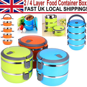 portable stainless steel thermal insulated lunch box bento food containe new uk ebay. Black Bedroom Furniture Sets. Home Design Ideas