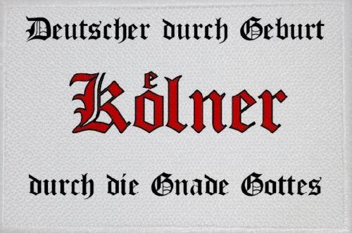 Aufnäher Gnade Kölner Aufbügler Patch 9 x 6 cm