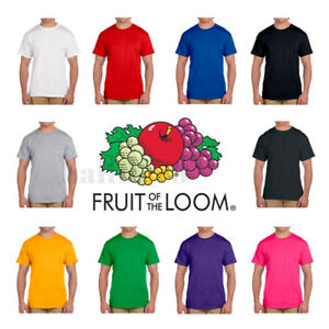 Fruit-of-the-Loom-Men-039-s-S-3XL-amp-5-10-oz-Short-Sleeves-HD-cotton-T-Shirt