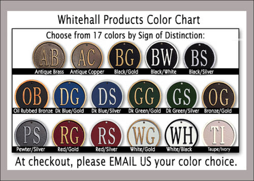 Whitehall Ultra-Petite Oval Address Personalized Plaque Fits in Small Spaces