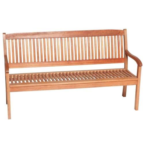 Gartenbank MARACAIBO Eukalyptus-Holz Natur 3-Sitzer Garten Bank Sitzbank