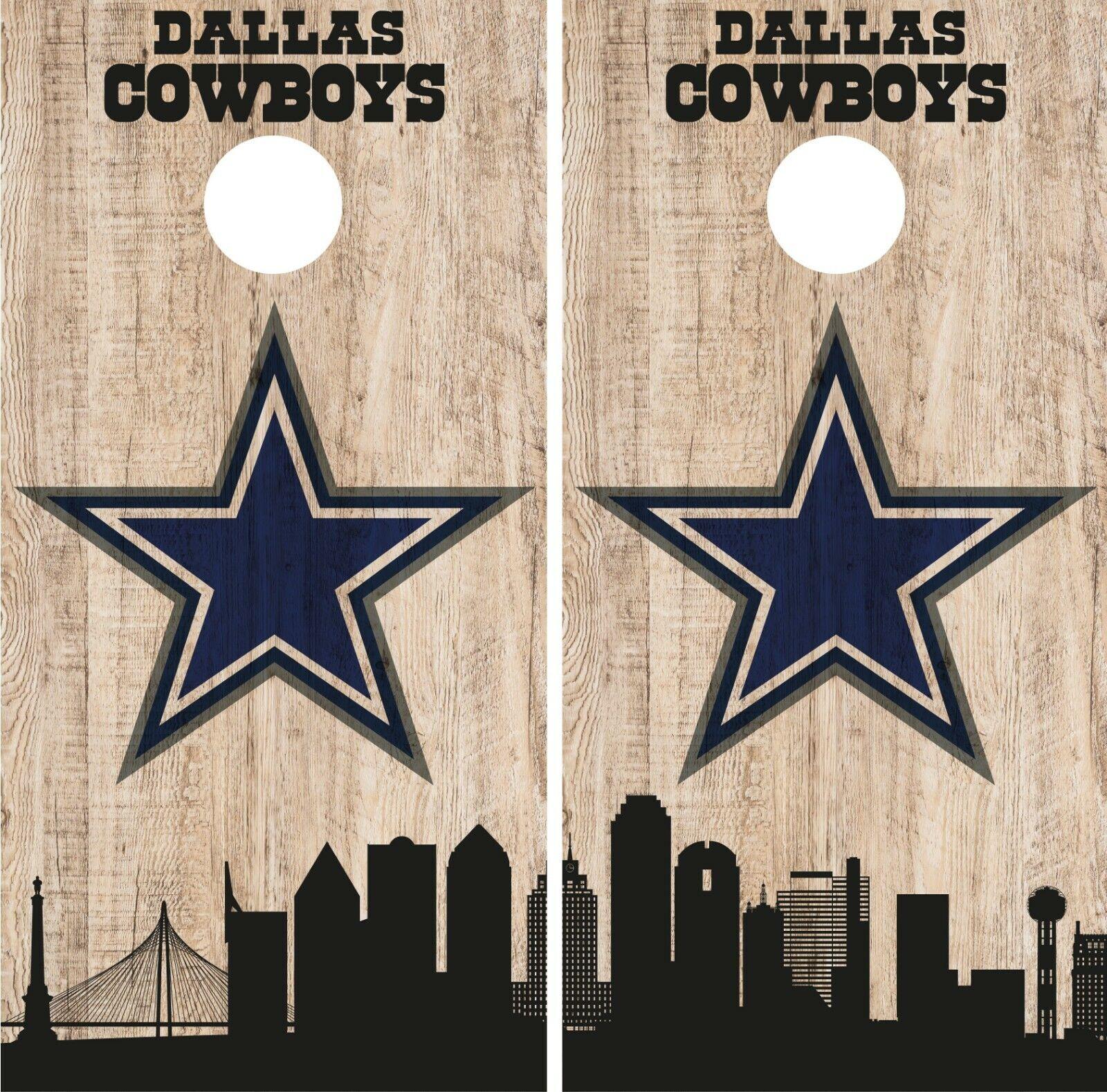 Dallas Cowboys Cornhole Wrap NFL Game City  Skyline Skin Vinyl Decal Set CO862  enjoying your shopping