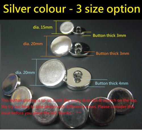 Jacket Round Shank Plain Plastic sewing Buttons Shirt 10//50//100 option Dress