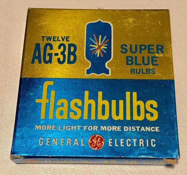 General Electric Super Blue Flash Bulbs AG-3B 10 In Each Box Brand New