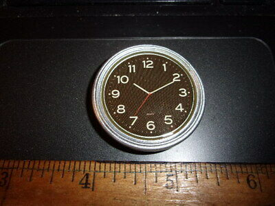 Retro Wooden Furniture Silver Brown Wall Clock 1//12 Dollhouse Miniature Decor