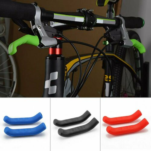 1Pair Bicycle Brake Fixed Gear Handle Covers Bike Bar Protector Sleeves Silicone