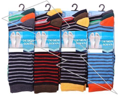 Homme Urs rayures Bb Chaussettes Couleur Riche Coton Poly Coton Designer adultes Lot