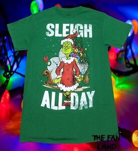 7491d809ef New Dr. Seuss How the Grinch Stole Christmas Sleigh All Day Mens ...