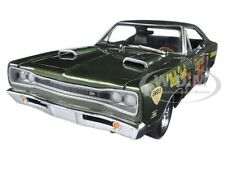 1969 DODGE SUPER BEE WALLY BOOTH F8 GREEN LTD 1002PCS 1/18 BY AUTOWORLD AW234