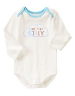 GYMBOREE BRAND NEW BABY I am sooo silly L//S BODYSUIT Preemies 0 3 6 12 18  NWT