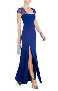 NEW-BCBG-MAX-AZRIA-ORIENT-BLUE-JULIA-FITTED-LACE-BACK-DRESS-UYS6U532-SIZE-8
